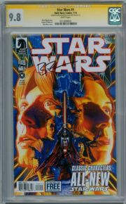 Star Wars #1 First Print CGC 9.8 Signature Series Signed Alex Ross & Brian Wood Dark Horse comic book